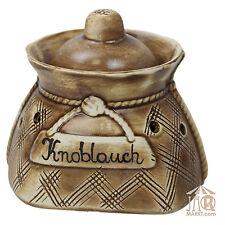 Knoblauchtopf Knoblauchsack Knoblauch-Sack - Aufbewahrungs-Topf Vorratstopf 1 L