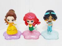 Disney Princess Figure Twinkle Statue Bandai Gashapon Ariel Jasmine Belle 3 pcs
