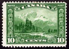 Canada Sc #155 - 10 Cents - Green - MH - Mount Hurd - C.V $22.50
