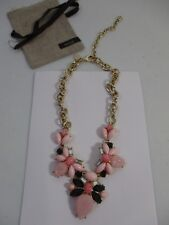 Lee by lee Angel Capri BIB Statement Necklace NIP $98 Pink Bronze