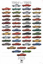 A3 FORD MUSTANG 50 YEARS ANNIVERSAY EVOLUTION POSTER BROCHURE PICTURE ART PRINT!