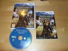 Nintendo Wii Game-El Señor De Los Anillos-Aragorn 's Quest * Gratis Reino Unido P&p