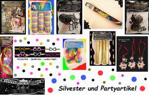 2020 Set01-30-teilig Neujahrs-Party Happy New Year com-four/® 30-teiliges Silvester Party-Set Partyh/üte Silvester f/ür 10 Personen