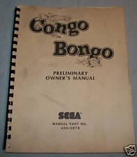 CONGO BONGO  ORIGINAL  SERVICE MANUAL  PARTS LIST
