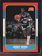1986 Fleer Johnny Moore #76 Basketball Card