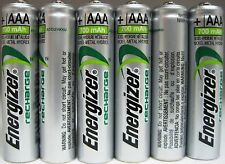 Energizer AAA Rechargeable NiMH Battery 800 mAh 1.2V 6 Pack