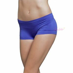 Stretch Seamless Dance Exercise Activewear Yoga Boy shorts Breifs Mini Panties