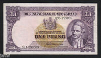 NEW ZEALAND P-159c. 1 Pound - Fleming. (1956-67) No Thread.. Prefix 093.. aVF-VF