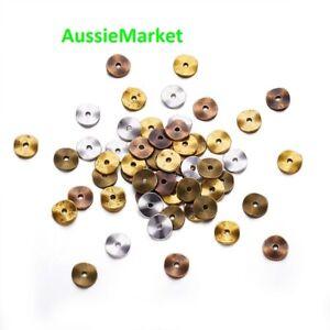 50 x metal alloy tibetan disc beads 10mm copper gold silver bronze mixed colours