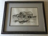 "A/P Etching Print ""Sand, Sage & Memories"" Signed by Artist Stone, Framed"