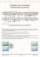 Document Philatélique Timbre 1er Jour : 10/10/ 1987 - Conseil de l'Europe