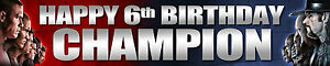 "2 x 40"" WWE PERSONALISED BIRTHDAY BANNER"