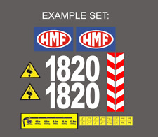 Sticker, aufkleber - Crane HMF 250, 503, 1820, 2820, 1563, 623, 2820... ALL