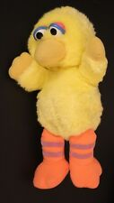 "Baby Big Bird Vintage 12"" Plush Sesame Street Toy"
