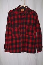 Vtg 50's JCPenney Sportclad Outdoor Wool Red Plaid Flannel Shirt Hunting M