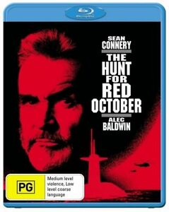 The Hunt For Red October (BLU-RAY), NEW SEALED AUSTRALIAN RELEASE