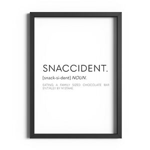 Snaccident Definition Print Kitchen Wall Art Dining Room Decor Funny Poster Sign