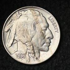 1936 Buffalo Nickel CHOICE BU FREE SHIPPING E227 WB
