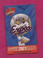 2001 MONTREAL EXPOS GUERRERO  POCKET SCHEDULE  (INV# 8352)