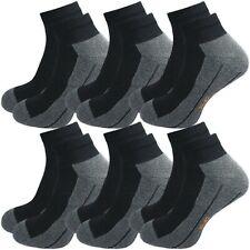 6 Paar Damen & Herren Sport Sneaker Socken | dämpfende Plüschsohle | ohne Naht