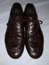 tods mens shoes, brown leather, 8.5 casual sneaker