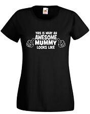 Mothers Day Gift AWESOME MUMMY birthday gift xmas mummy mum mom pink