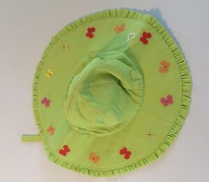 NWT Lime Green And Butterflies Gymboree SOCIAL BUTTERFLY Wide  Sun Hat 12-24 Mo