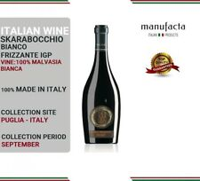 6 bottles Italian White Wine| Vino Bianco frizzante pregiato | Skarabocchio IGP