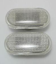 2 X CLEAR SIDE INDICATORS FOR NISSAN NAVARA D40 2005 - 2014 05 06 07 08 09 10 11