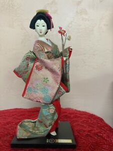 "Vintage Japanese Doll Kimono Geisha Figure  Approximately 13.5"""