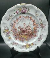 "18th Century Lille Faience 9.5"" Plate France circa 1767 Hand Painted Children"