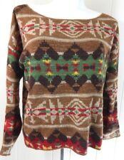 Denim & Supply Ralph Lauren Women's Small Sweater Southwestern Boxy Fit EUC