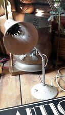 Vintage retro desk light lamp chrome metal articulated knuckle shade.