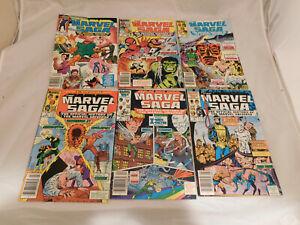 Lot of 5 Marvel Saga History of the Marvel Universe #1 2 3 4 5 (1986)  VF
