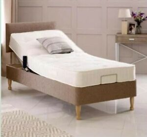 3FT Electric Adjustable+Mobility Disabled Bed+Headboard +Memory/Pocket Mattress