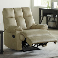 Leather Recliner Chair Padded Comfortable Soft Overstuffed Sofa Sturdy Structure