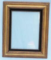 "Vintage 19""x23"" Painted Gold Wood Ornate Picture Frame"