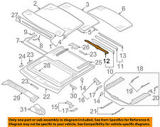 AUDI OEM 09-13 A3 Sunroof-Sunshade Front Support 8P4877307B3D0