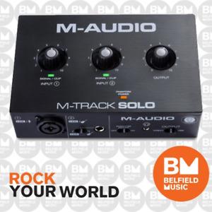M-Audio M-Track Solo USB Audio Interface - Brand New - Belfield Music