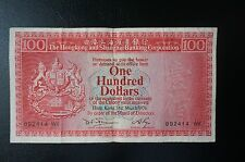 "1976 HONG KONG ""OLD ISSUE"", HSBC BANK_$100"