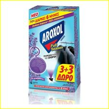 Anti Cloth Moth Lavender Fragrance Aroxol Last up to 6 month - 1 x 6-Pack Hanger