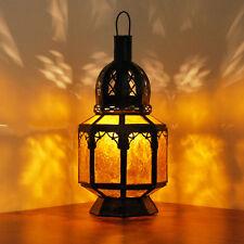 ORIENTALE LANTERNA MAROCCO Lampada da appendere in vetro SAMARA Amber H30cm