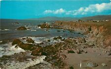 Northern California shoreline coast Pacific CA Postcard