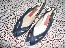 Van Dal 'Dearest' Navy Leather Sling Back Peep Toe Shoes  - Size 6 - Brand new
