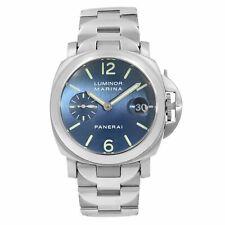 Panerai Luminor Marina Satin Blue Dial Steel Automatic Mens Watch PAM00120