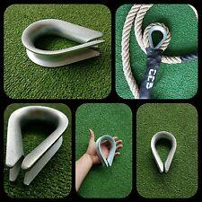 Œillet garde corde 30mm 3cm cordage corde tressée amarrage galvanisé trepa