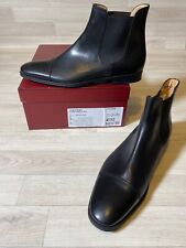 Bally Shoes Mens Black Calf Leather Bally Shoe Chelsea Boots EU10 USA11 FR44 NEW