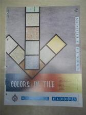 Kentile Floors Catalog~Vinyl-Asbestos Floor Tile/ Flooring~1961
