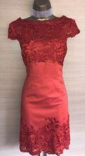 Exquisite Karen Millen Orange Lace Trim Shift Dress UK12 Stunning
