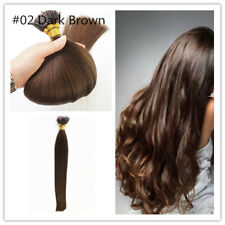 "20"" 1g 7A* Nano Ring Tip Double Drawn Russian Remy Human Hair Extensions #02"